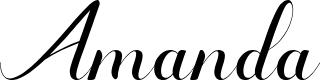 Preview image for Amanda-Artdesign Font