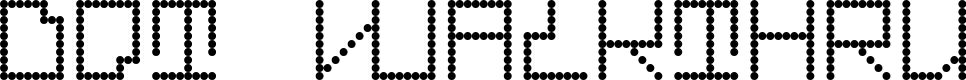 Preview image for Dot Walkthru Font
