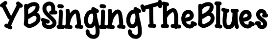 Preview image for YBSingingTheBlues Font