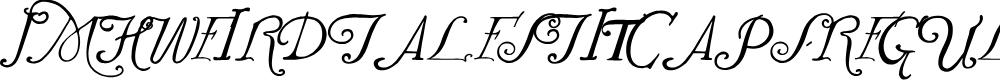 Preview image for JMHWeirdTalesTitCaps-Regular Font