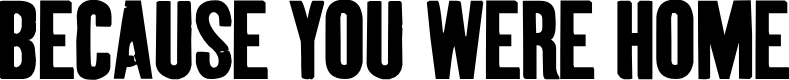 Preview image for BecauseYouWereHome Font