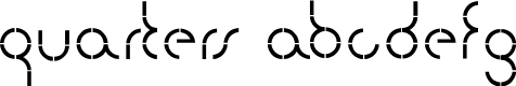 Preview image for quarters Font