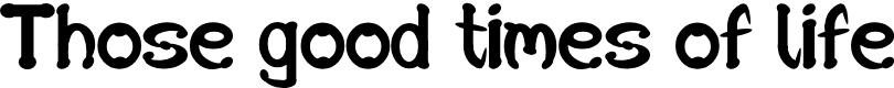 Preview image for SD Those good times of life Font