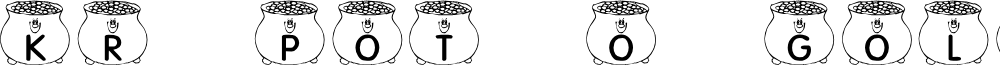 KR Pot O' Gold font