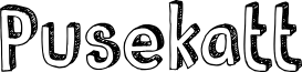 DKPusekatt font