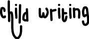 Preview image for child writing Font