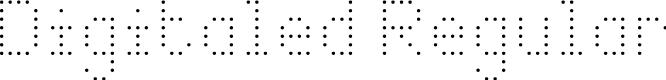 Preview image for Digitaled Regular Font