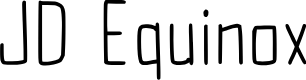 Preview image for JD Equinox Font