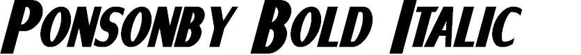 Preview image for Ponsonby Bold Italic