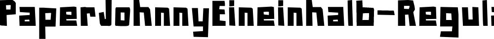 Preview image for PaperJohnnyEineinhalb-Regular