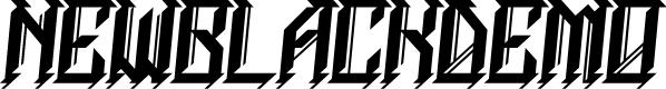 Preview image for NEWBLACKDEMO Font