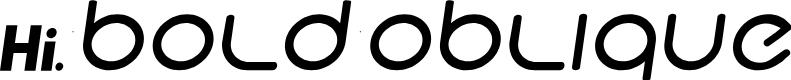 Preview image for Hi. Bold Oblique