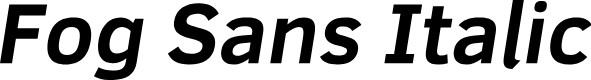 Preview image for Fog Sans Italic