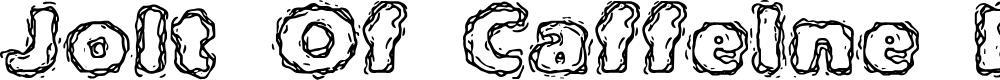 Preview image for Jolt Of Caffeine BRK Font