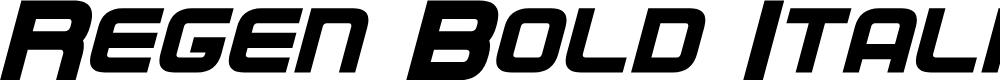 Preview image for Regen Bold Italic