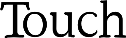 Preview image for Touch Font