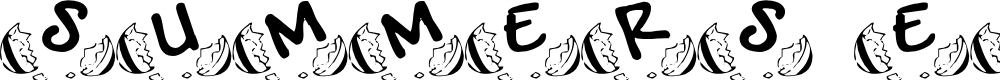Preview image for SUMMERS EASTER EGGS Font