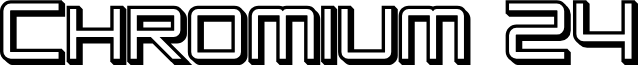 SF Chromium 24 SC Bold