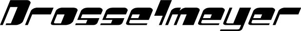 Drosselmeyer Expanded Italic