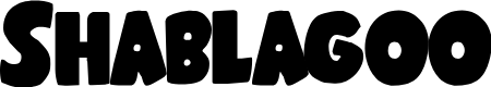 Preview image for Shablagoo Font