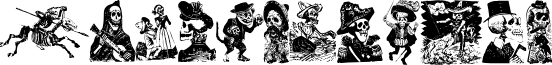 Calaveras 323 font