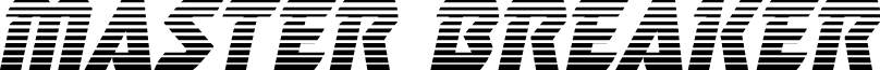 Master Breaker Gradient Italic