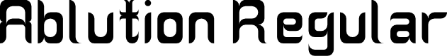 Preview image for Ablution Regular Font