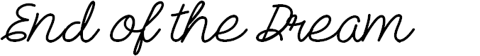 Preview image for Mf End of the Dream Font
