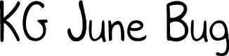 Preview image for KG June Bug Font