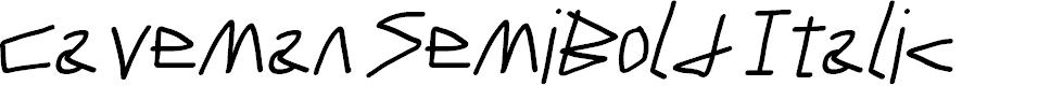 Preview image for Caveman SemiBold Italic