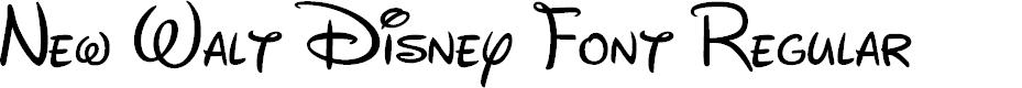 Preview image for New Walt Disney Font Regular Font