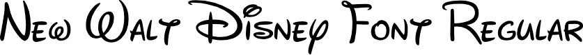 Preview image for New Walt Disney Font Regular Font
