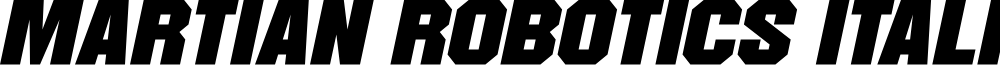 Martian Robotics Italic