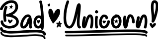 Preview image for Bad Unicorn DEMO Regular Font