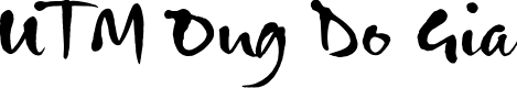 Preview image for UTM Ong Do Gia Font