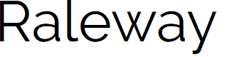 Preview image for Raleway Font