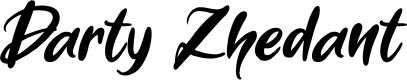 Preview image for Darty Zhedant Font