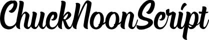 Preview image for ChuckNoonScript Font