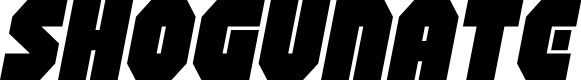 Preview image for Shogunate Expanded Italic