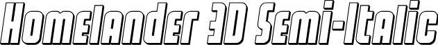 Homelander 3D Semi-Italic