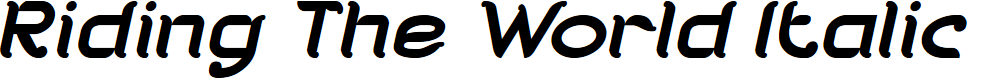 Preview image for Riding The World Italic
