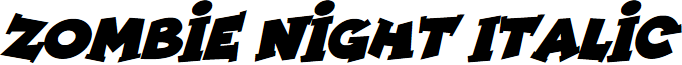 Zombie Night Italic font