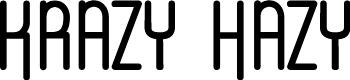 Preview image for Krazy Hazy Font