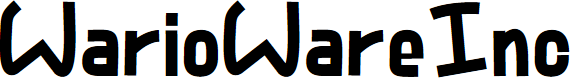 Preview image for WarioWareInc Font