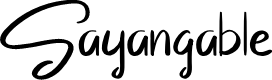 Preview image for Sayangable Font