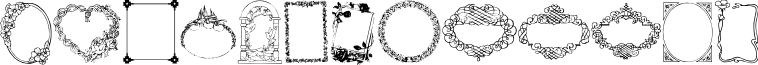 Darrians Frames font