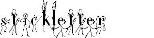 Preview image for StickLetter Medium Font