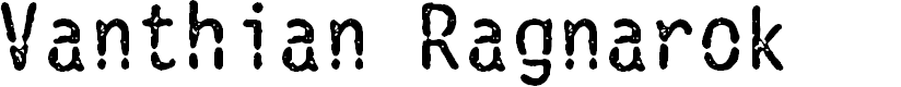 Preview image for Vanthian Ragnarok Font