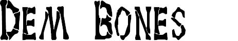Preview image for Dem Bones Font