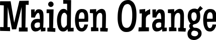 Preview image for Maiden Orange Font
